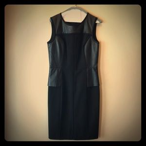Calvin Klein leather looking dress